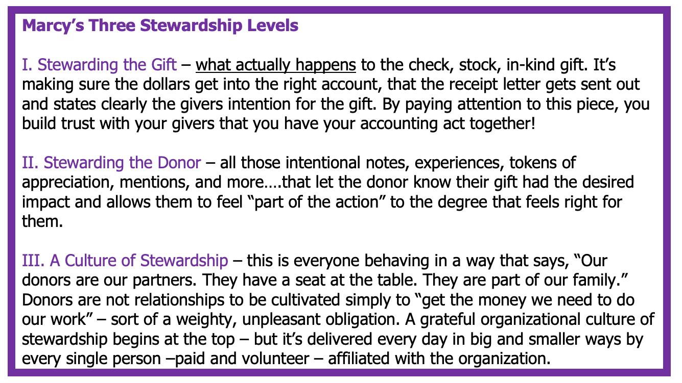 3 stewardship levels
